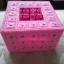 กล่องทิชชูแผ่นเฟรม Pop up สีชมพู (ทำสำเร็จ) thumbnail 2