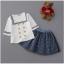 เสื้อ+กระโปรง สีขาว แพ็ค 5ชุด ไซส์ 100-110-120-130-140 thumbnail 5