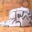 หมวกแฟชั่น GOT7 Jackson สีขาวลายดำ thumbnail 3