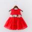 ชุดกระโปรง สีแดง แพ็ค 3ชุด ไซส์ 100-110-120 thumbnail 1