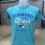 เสื้อยืดสีฟ้า พิมพ์ลายด้านหน้าด้วยระบบ DTG thumbnail 1