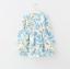 ชุดกระโปรง สีขาวดอกสีฟ้า แพ็ค 5ชุด ไซส์ 100-110-120-130-140 thumbnail 2