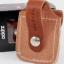กระเป่าหนังใส่ไฟแช็ค Zippo แท้ - Genuine Zippo LPLB, Brown Leather Lighter Pouch with Loop แบบห่วง thumbnail 3