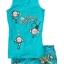 GNL083 baby Gap เสื้อผ้าเด็ก ชุดลำลอง เสื้้อกล้ามและกางเกงขาสั้น สกรีนลายลิงจ๋อ go bananas สีฟ้าสด Size 95/100/110 thumbnail 1