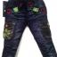 J707 กางเกงยีนส์เด็กชาย ขายปลีกในราคาส่ง ดีไซเท่ห์ทั้งด้านหน้า-หลัง เอวยางยืด เหลือ Size 3 ขวบ thumbnail 1