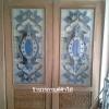 ประตูไม้สักกระจกนิรภัย ครึ่งบาน เกรดA รหัส AA08