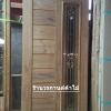 ประตูไม้สักกระจกนิรภัย โมเดิร์น เกรดA รหัส AA32