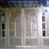 ประตูไม้สักบานเลื่อน ชุด4ชิ้น เกรดB+, B รหัส BBB09