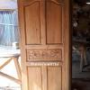 ประตูไม้สักบานเดี่ยวปีกนกแกะ เกรดB+, B รหัสBBC31