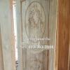 ประตูไม้สักบานเดี่ยวแกะเรือสำเภาจีน เกรดB+, B รหัส BBC18