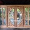 ประตูไม้สักกระจกนิรภัย,ประตูบานเลื่อน
