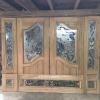 ประตูไม้สักกระจกนิรภัยชุด7ชิ้น เกรดA รหัส NOT31