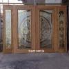 ประตูไม้สักกระจกนิรภัย ชุด4ชิ้น เกรดB+, B รหัส BBB06