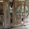 ประตูไม้สักกระจกนิรภัยชุด4ชิ้น เกรดB+, B รหัส BBB17