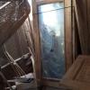 ประตูไม้สักกระจกนิรภัยปีกนก เกรดB+, B รหัส AB07