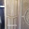 ประตูไม้สักบานเดี่ยว ไม้สักอบแห้ง เกรดB+, B รหัส AC02