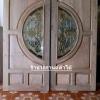 ประตูไม้สักกระจกนิรภัย เกรดA รหัส AA27