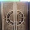 ประตูไม้สักบานคู่แกะมังกรหงส์ เกรดA รหัส B31