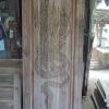 ประตูไม้สักบานเดี่ยว แกะพญานาค เกรดB+, B รหัส AC18