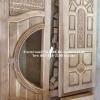 ประตูไม้สักกระจกนิรภัยลีลาวดี เกรดB+, B รหัส AB23