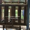 หน้าต่างไม้สักบานเลื่อน ชุด4ชิ้น รหัส NOT05
