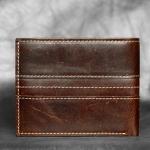 M Short Leather Line Dark Brown