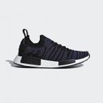 Adidas NMD_R1 STLT PRIMEKNIT SHOES Black/Ash Pink/Noble Indigo
