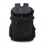 กระเป๋าเป้สะพายหลัง ผ้าแคนวาส สีดำ