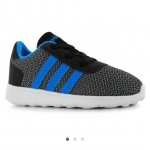 adidas LiteRacer Infant Trainers สีเทา