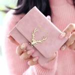 W Short Golden Deer Pink