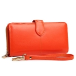 W Long Leather Orange