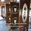 ประตูไม้สักกระจกนิรภัยวงรี แกะลีลาวดี รหัส AAA132 thumbnail 2
