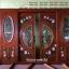 ประตูไม้สักกระจกนิรภัยบานเลื่อนแกะลีลาวดี ชุด4ชิ้น รหัสAAA15 thumbnail 2