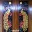 ประตูไม้สักบานคู่ แกะนกยุงคู่ เกรดA,B+ รหัส BB25 thumbnail 1