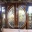 ประตูไม้สักกระจกนิรภัยแตงโมเต็มบาน ชุด4ชิ้น รหัสAAA109 thumbnail 2