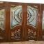 ประตูไม้สักกระจกนิรภัยปีกนกบานเฟี้ยม ชุด4ชิ้น รหัสAAA22 thumbnail 1