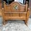 เตียงไม้สักแกะฟักทอง 3.5ฟุต รหัส HH10 thumbnail 1