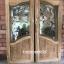 ประตูไม้สักกระจกนิรภัยปีกนก เกรดA รหัส AA61 thumbnail 1