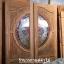 ประตูไม้สักกระจกนิรภัย แกะมังกรหงส์ เกรดA รหัส AA25 thumbnail 1
