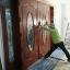 ประตูไม้สักกระจกนิรภัยวงรี ชุด4ชิ้น เกรดA รหัสAAA131 thumbnail 2
