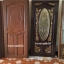 ประตูไม้สักกระจกนิรภัยวงรี แกะองุ่น เกรดA รหัส A87 thumbnail 1