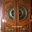 ประตูไม้สักกระจกนิรภัย แกะองุ่น เกรดA รหัส A83 thumbnail 1