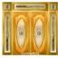 กระจกนิรภัยสเตนกลาส วงเต็มบานสีทอง รหัส G10 thumbnail 1