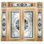 กระจกนิรภัยสเตนกลาส สีน้ำเงิน 7ชิ้น รหัส G13 thumbnail 1