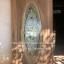 ประตูไม้สักกระจกนิรภัยวงรีเต็มบาน เกรดA รหัส AA65 thumbnail 2
