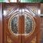 ประตูไม้สักกระจกนิรภัย แกะหงส์มังกร เกรดA รหัส A63 thumbnail 1