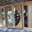 ประตูไม้สักกระจกนิรภัยบานเลื่อน เกรดA ชุด4ชิ้น รหัสNOT16 thumbnail 1