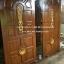 ประตูไม้สักบานเดี่ยวลูกฟักแกะแต้มทอง รหัส C114 thumbnail 1