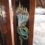 ประตูไม้สักบานเดี่ยว แกะพญานาค เกรดA, B+ รหัส C58 thumbnail 2