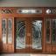 ประตูไม้สักกระจกนิรภัยเต็มบานรางเงิน ชุด7ชิ้น รหัส AAA02 thumbnail 1